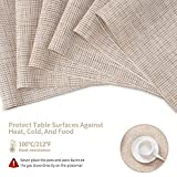 SD SENDAY Placemats, Set of 8 Heat-Resistant Stain
