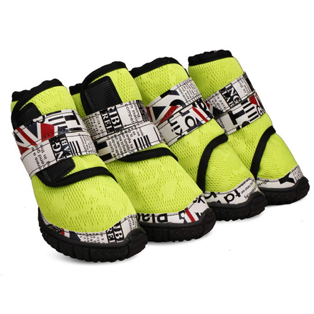 Green 45 Green 45 Pet shoes Small Medium and Large Dog shoes Fashion High Tube Breathable Non-Slip Sports Dog Net shoes