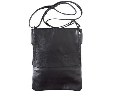 abd115a47ef LaGaksta Ashley II Italian Soft Leather Shoulder Crossbody Bag -Black,Small