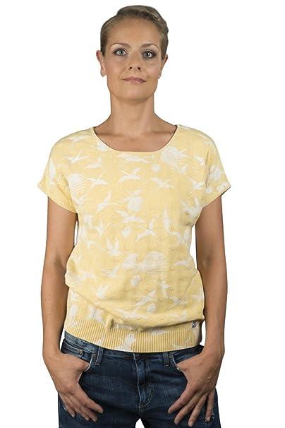 Piece of Blue de Punto para Mujer suéter Amarillo Corto – sucesor de Blue Willis Rosa