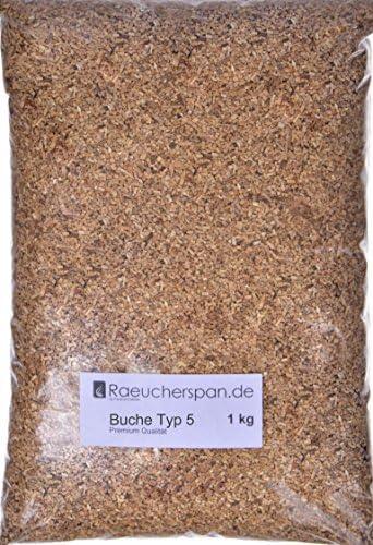 Räucherspäne Räuchermehl Buche Typ 5 Premium Qualität Spangröße 2x2mm aromatisches Buchenholz zum Räuchern