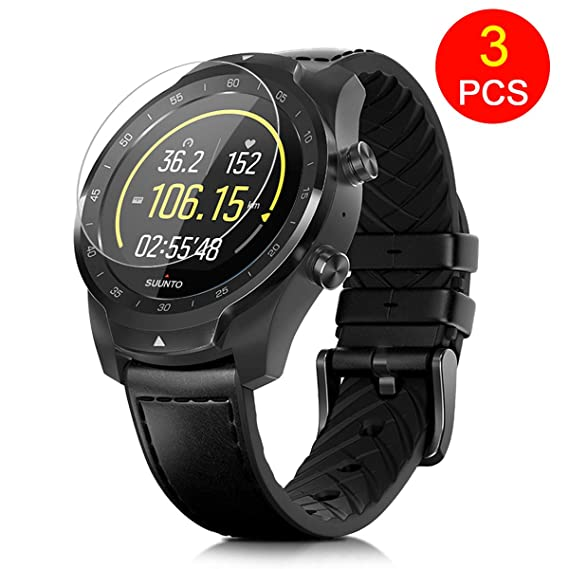 FINENIC【3 Pack】 Universal Round Watch Screen Protector.Compatible for Michael Kors MKT5001/5004/ Power watchX/Power Watch Black OPS/Moto 360 1st and ...