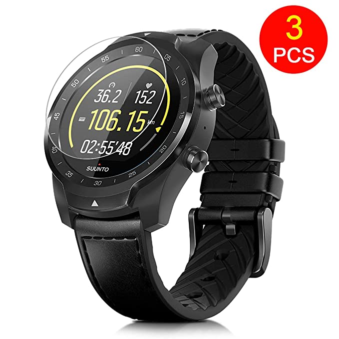 FINENIC【3 Pack】 Universal Round Watch Screen Protector.Compatible for Ticwatch C2/E2/S2 Screen Protector/Huawei Watch GT/Fossil q Venture gen 4 ...