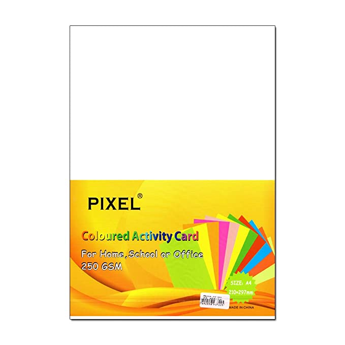 White - 160GSM - 50 Sheets Office Pixel® A4 Card for Home School