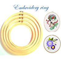 Manasvini Wooden Embroidery Ring Frame Hoop - Set of 4