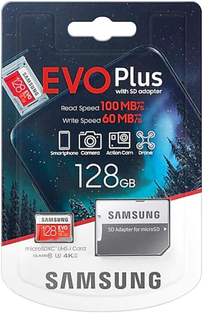 Scheda di memoria Micro SD SDXC classe 10 U3 100 MB//S Samsung Evo Plus MB-MC128HA APC