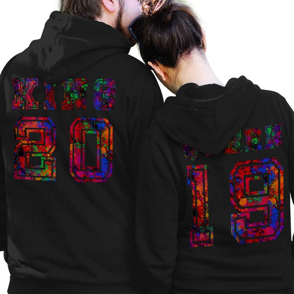 SMLBOO King and Queen 2019 Funny Awesome Matching Couples Valentine Shirt Unisex Style Hoodie