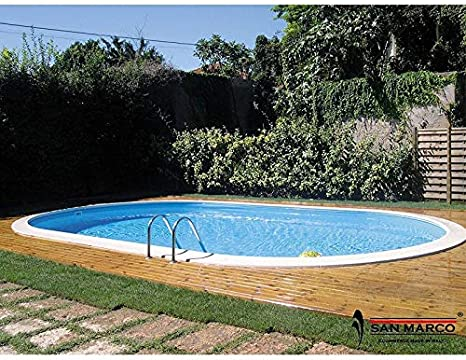 Piscina interrata Moorea 800 x 400 cm con escalera Easy: Amazon.es: Jardín