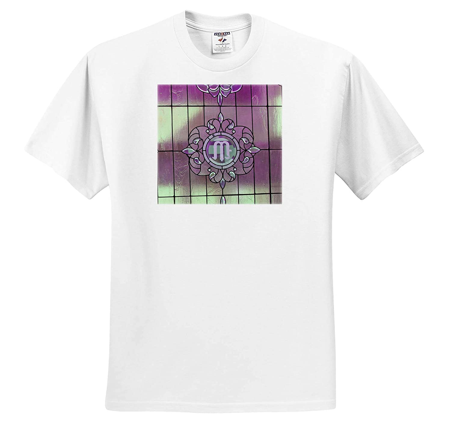 T-Shirts A Monogram of a Letter M on Rod Iron with Pink and Green 3dRose Jos Fauxtographee Letter M Monogram Pink