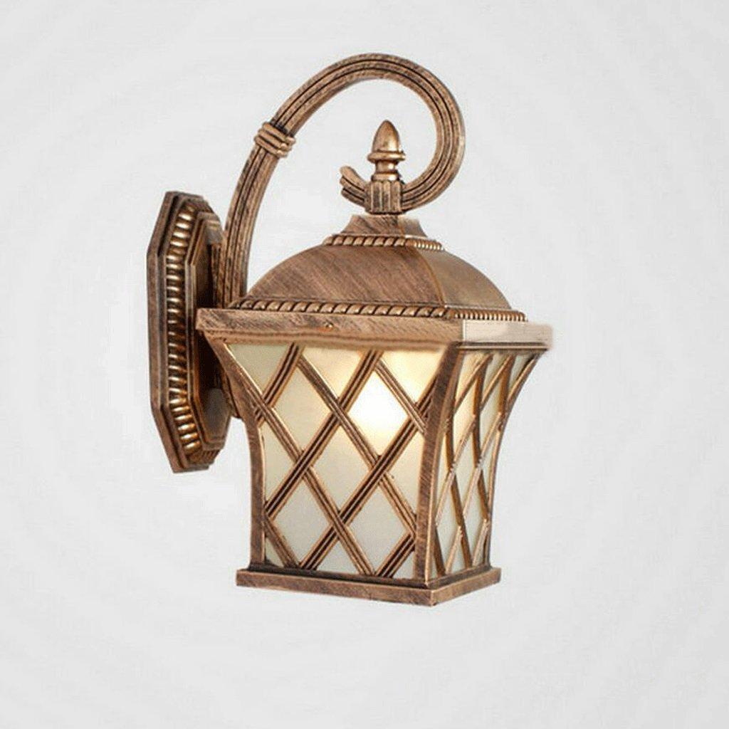 CHENGYI Lampada da Parete, Moderna lampada da parete impermeabile per esterni Cortile giardino Semplice e creativo decorazione di notte Street Night Lights ( colore   Bronzo )