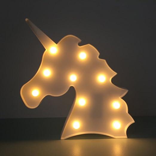 Lovely Unicorn Night Lights Mood Nights For Kids Children Sweet