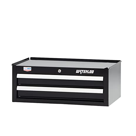 Waterloo W300 Series 26u0026quot; Wide 2 Drawer Intermediate Tool Chest With  With 16u0026quot;