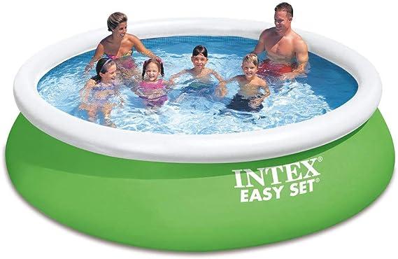Intex Easy Set - Kit de Piscina Color Verde, 366 x 366 x 84 cm, 6200 litros: Amazon.es: Jardín