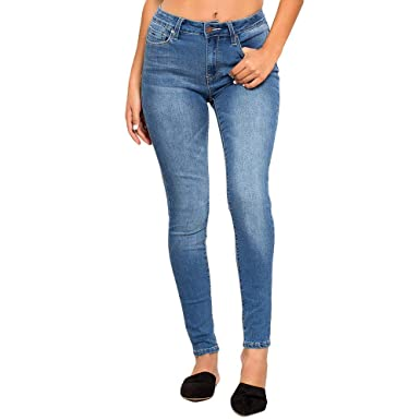 2a4585f3a2 Amazon.com: YMI High-Waist Skinny Luxe Jeans, Black: Clothing