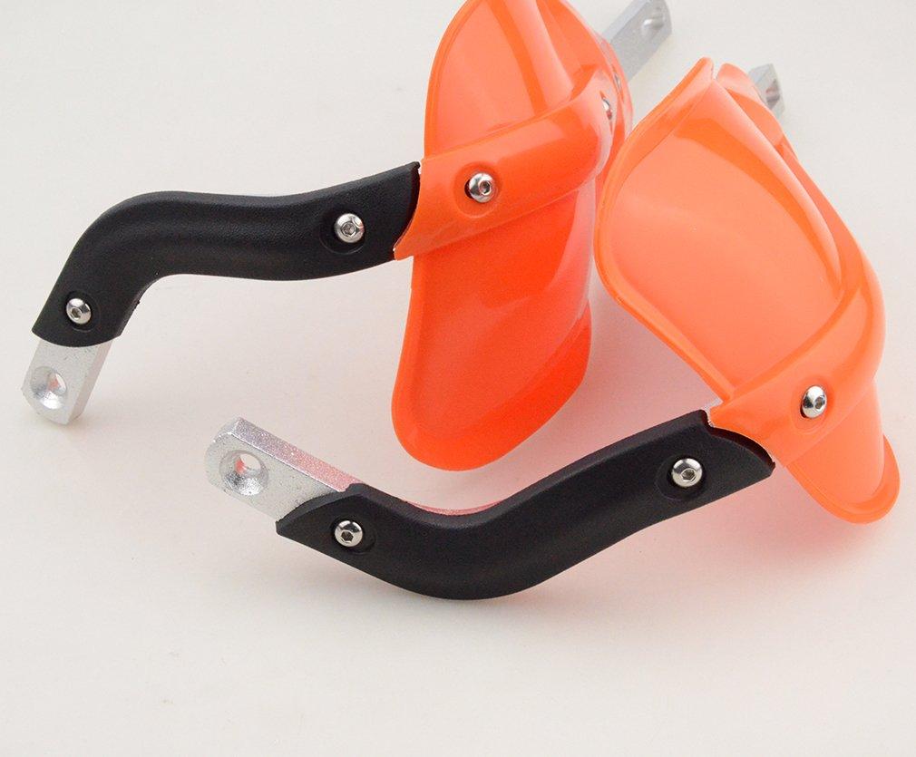 GOOFIT Universal 7//8 Motorcycle Handbrush Handlebar Protector Guards Handguard handlebar For ATV Scooter Go Kart Blue