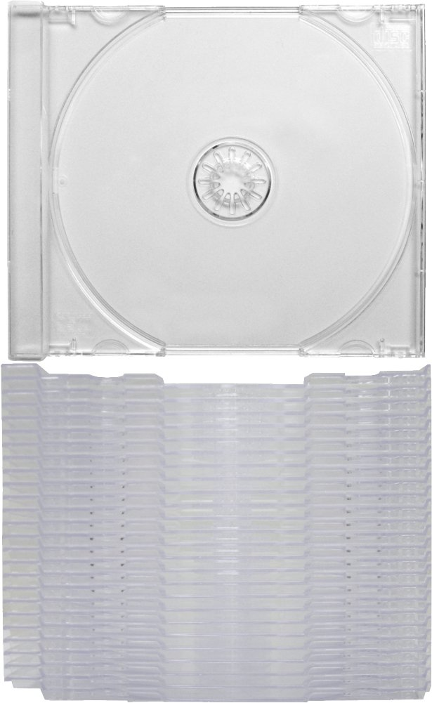 (25) Clear Replacement CD Trays / Inserts for CD Jewel Boxes! #CDIS80CL - Fits any standard size 10mm Jewel Box, also snaps into the ''Chubby'' Jewel Boxes!