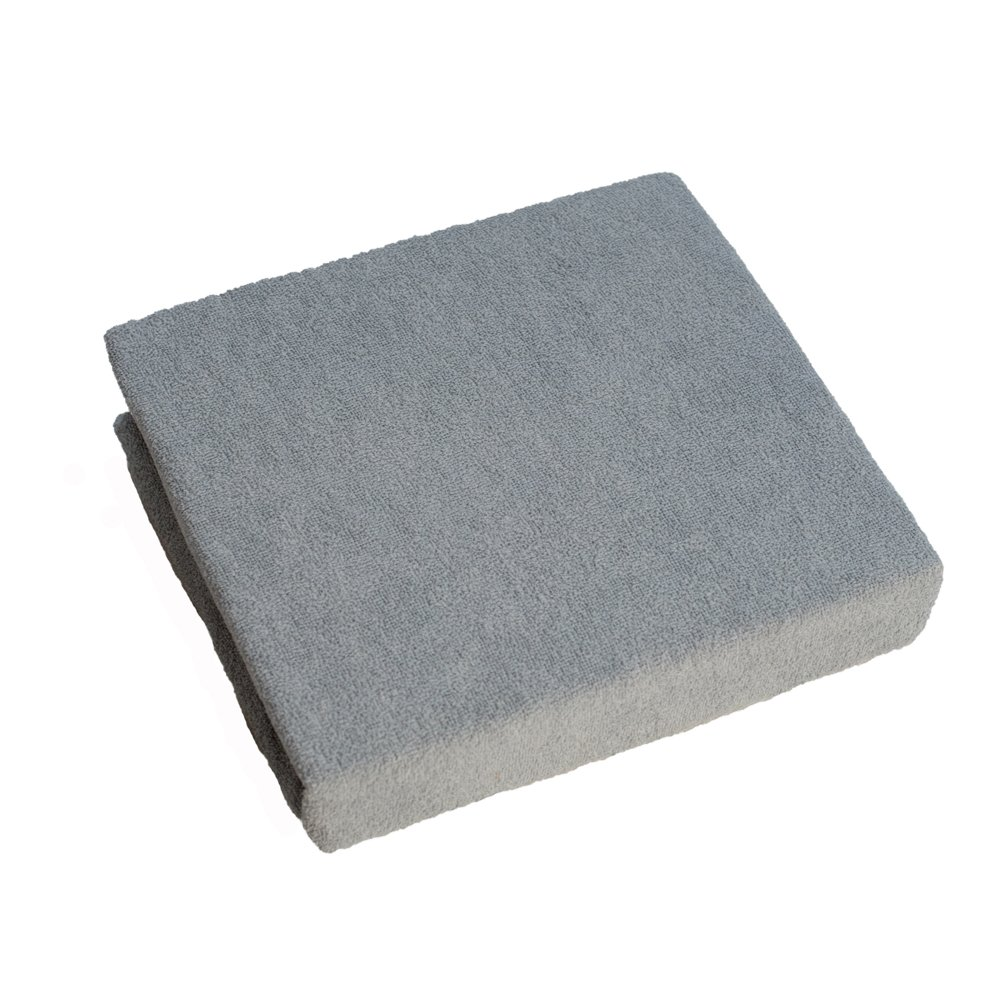 Terry Towelling Fitted Sheet 140x70 cm for Nursery Baby Cot Bed - Grey Baby Comfort