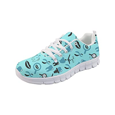 HUGS IDEA Women's Lightweight Running Sneakers Dental Print Air Mesh Tennis Shoes | Fashion Sneakers