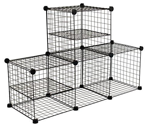 Internet's Best Wire Storage Cubes | Set of 4 | Wire Stor...