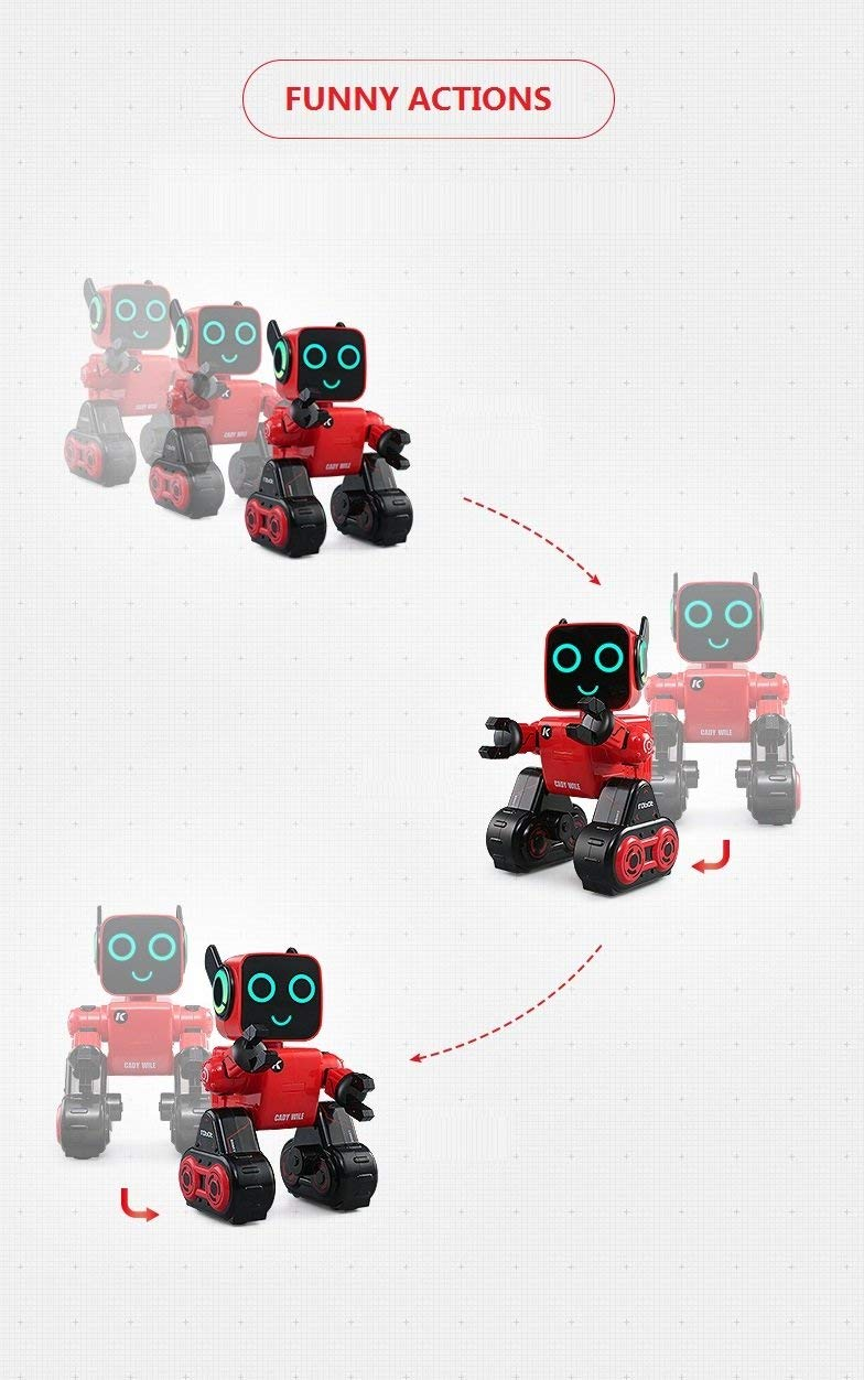 Hi-Tech Wireless Interactive Robot RC Robot Toy for Boys, Girls, Kids, Children (Red) by HI-TECH OPTOELETRONICS CO., LTD. (Image #4)