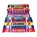 15018cm 2018 Russia FIFA World Cup Fans Fashionable Scarves Flags Sports Football Soccer Neckerchief