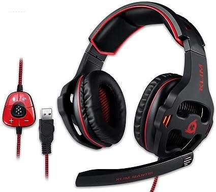 Klim Gaming Headset Usb 7 1 Gaming Headphones High Computers Accessories