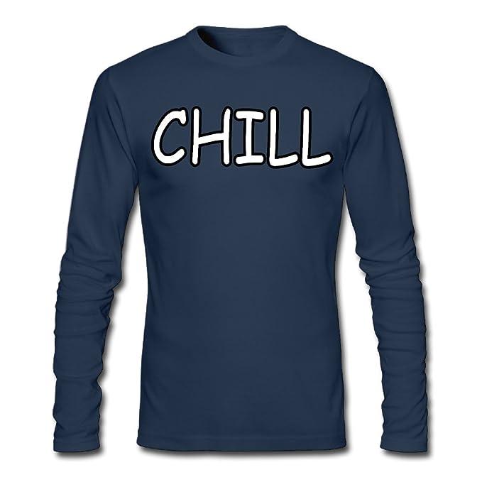 60f157ddd Amazon.com: Men's Novelty Cotton T Shirt, Chill Crew Neck Graphic ...