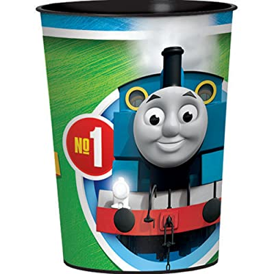 amscan Thomas All Aboard Cup, Party Favor, Standard, Multicolor: Toys & Games