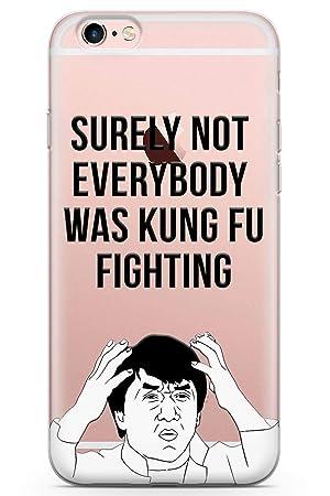 iPhone 6 Plus Pelea De Kung Fu Funda de Teléfono de Goma Cover Gracioso Jackie Chan Meme por Qué Claro: Amazon.es: Electrónica