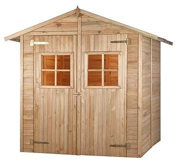 Madeira - Madeira - Caseta de jardín (madera Combloux tratada a presión 3, 8 M2 - 12 mm: Amazon.es: Jardín