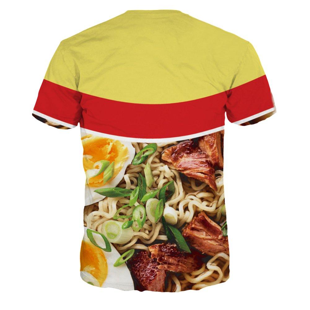 4PING Mens Spaghetti Digital Printing Tee Short-Sleeved Quick-Drying Bottoming Shirt