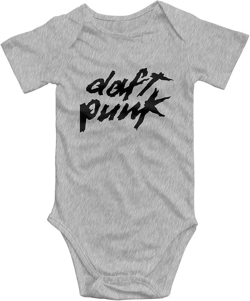 Chouven Babys Daft Punk Logo Long-Sleeve Climbing Bodysuits Toddler Boys Girls Rompers