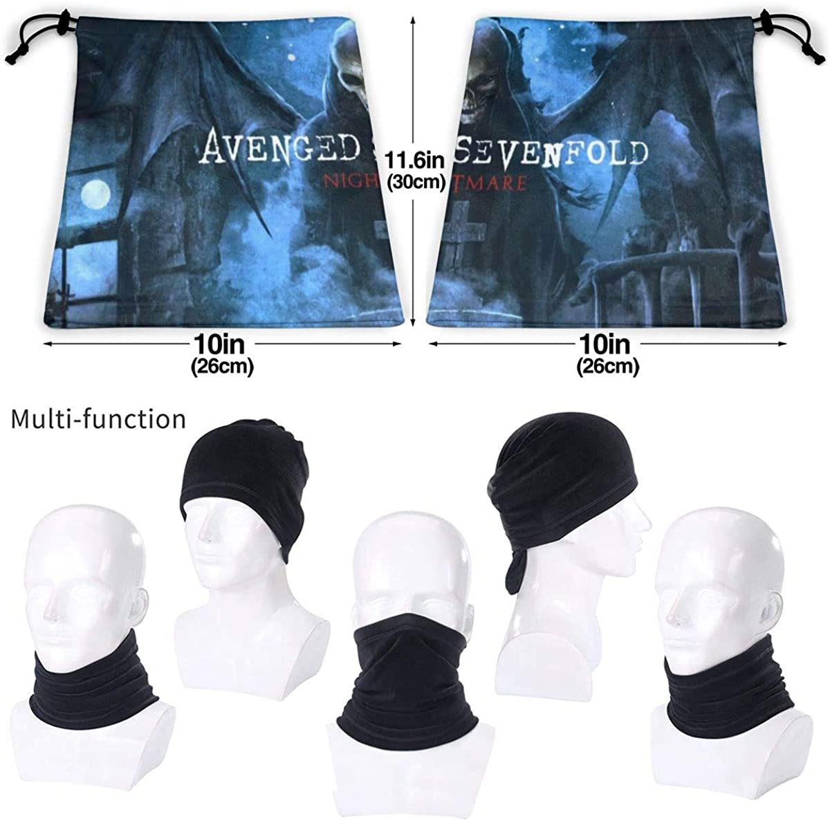 Avenged Sevenfold Highly Elastic Warm Microfiber Neck Thermal Mask Scarf Unisex Windproof Suitable For Winter
