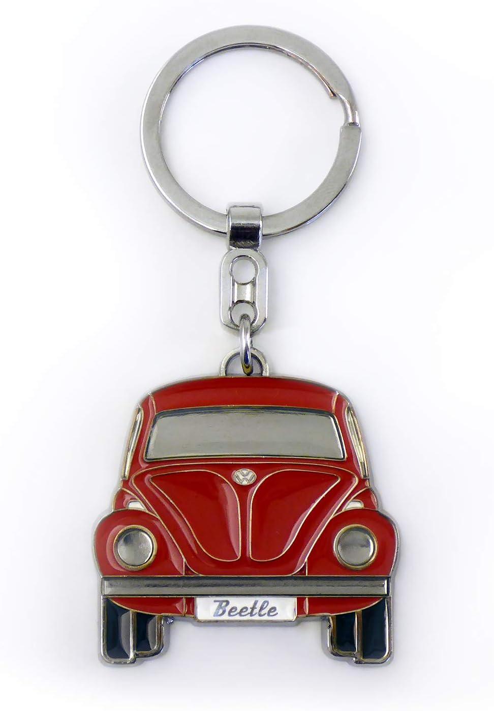 Volkswagen Coccinelle Voiture Beetle Porte-cl/és dans Coffret Cadeau de Haute qualit/é Id/ée de Cadeau//Souvenir//Produit R/étro Vintage BRISA VW Collection Avant//Bleu