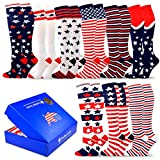 TeeHee Special (Holiday) Women Knee High 9-Pairs Socks with Gift Box (American