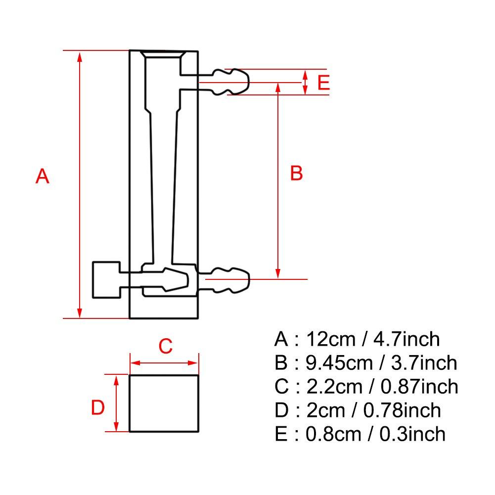 Medidor de flujo de gas medidor de flujo LZQ-7 Medidor de flujo 1-10LPM con v/álvula de control para ox/ígeno//aire//gas