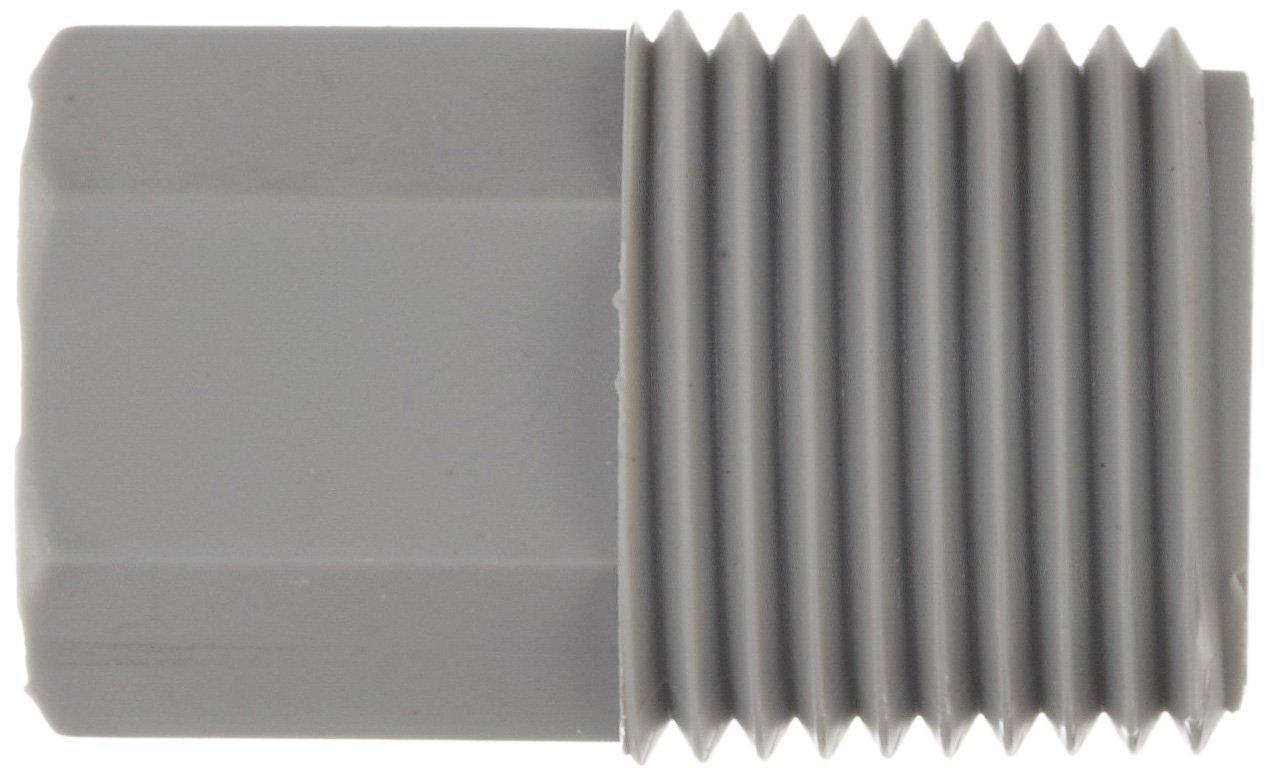 1//4 NPT Male x 1//8 NPT Female Pack of 10 Tefen Nylon 6//6 Pipe Fitting Adapter Gray