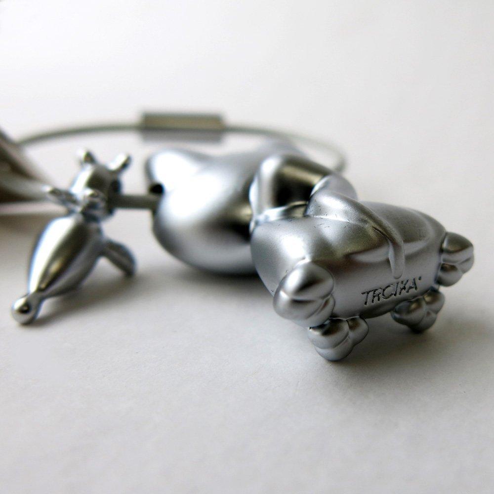 TROIKA - KR14-20 - Llavero del gato y el ratón, metal fundido, mate: Amazon.es: Equipaje