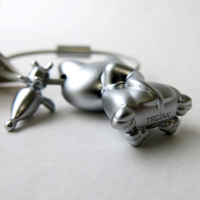 Amazon.com: TROIKA KATZ + MAUS – KR14-20/MA – Keyring – cast metal– matt – chrome plated – silver – TROIKA-original: Home & Kitchen