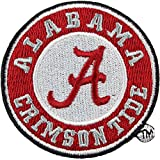 Alabama Crimson Tide Round Primary Team Logo Iron On Embroidered Patch