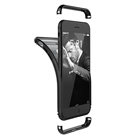 Yokata Funda iPhone 7, Carcasa Silicona Fundas para Apple iPhone 7, TPU Gel Ultra Fina 360 Diseño Parachoques a Prueba de Golpes 3 en 1 Desmontable ...