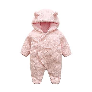 f6dda35b5 Amazon.com  Newborn Baby Winter Thicken Cartoon Sheep Snowsuit Warm ...