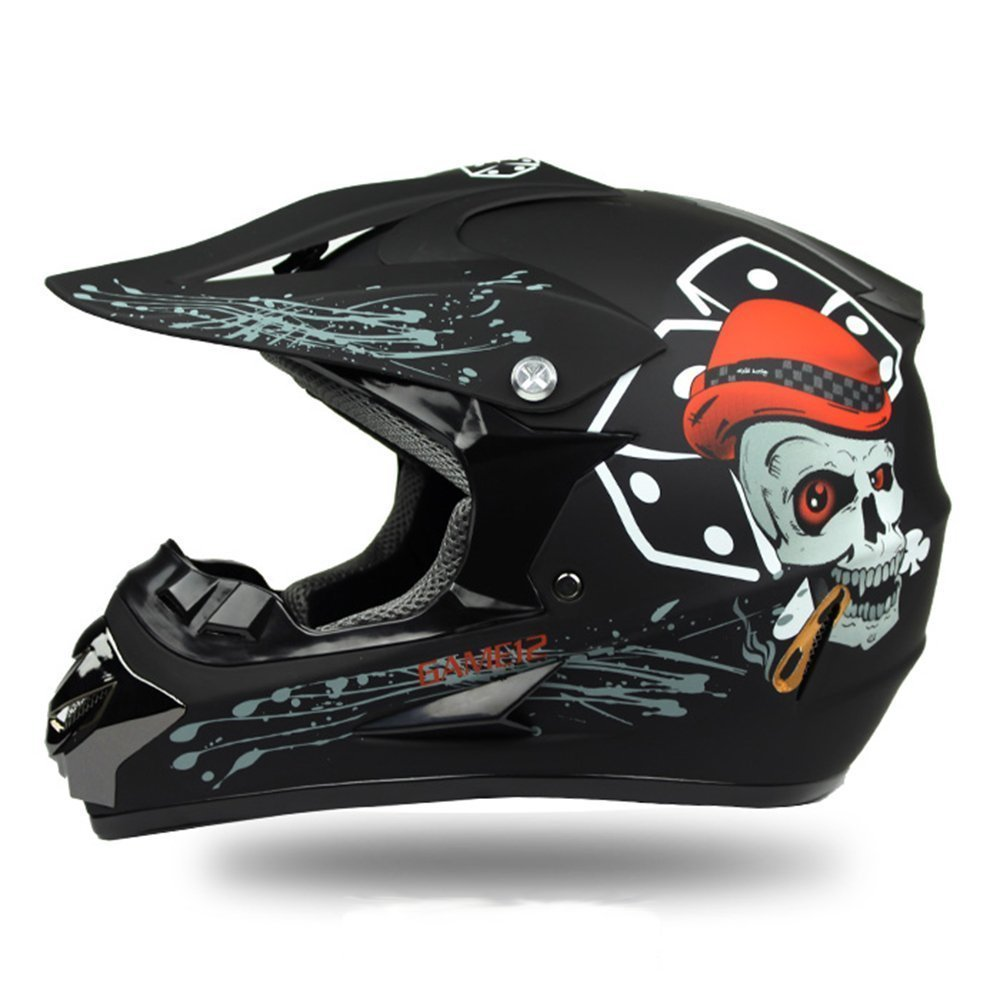 Adult Off Road Helmet DOT Dirt Bike Motocross ATV Motorcycle Offroad (M, Style 7) Cystyle