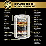 12-Stage Replacement Premium Filter Cartridge (No Housing), Compatible with Any Shower Filter of Similar Design Universal High Output EW-SF - 12 AquaHomeGroup