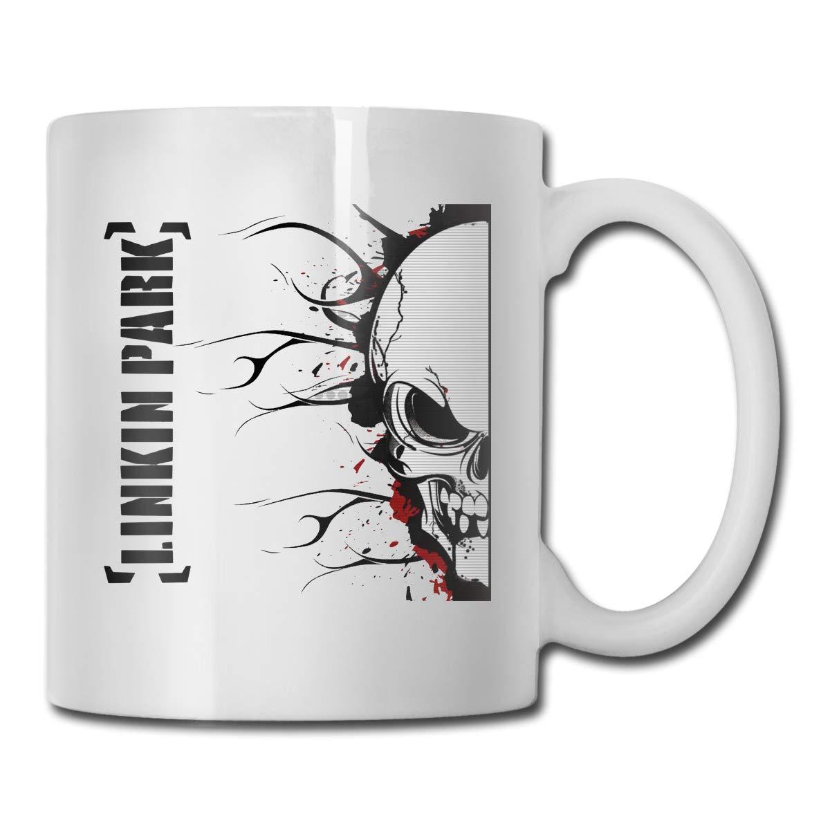 Office Coffee Cup LinkinParkArt Geblackus 14.72 OZ Capacity Mug is Perfect for CoffeeWhite