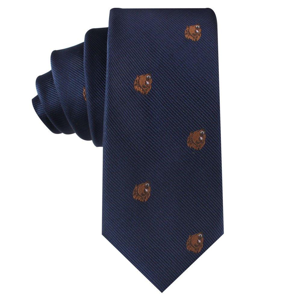 Bear Tie | Bear Market Wall Street Ties | Banker Gift for Men | Work Ties for Him | Birthday Gift for Guys (Brown Bear)
