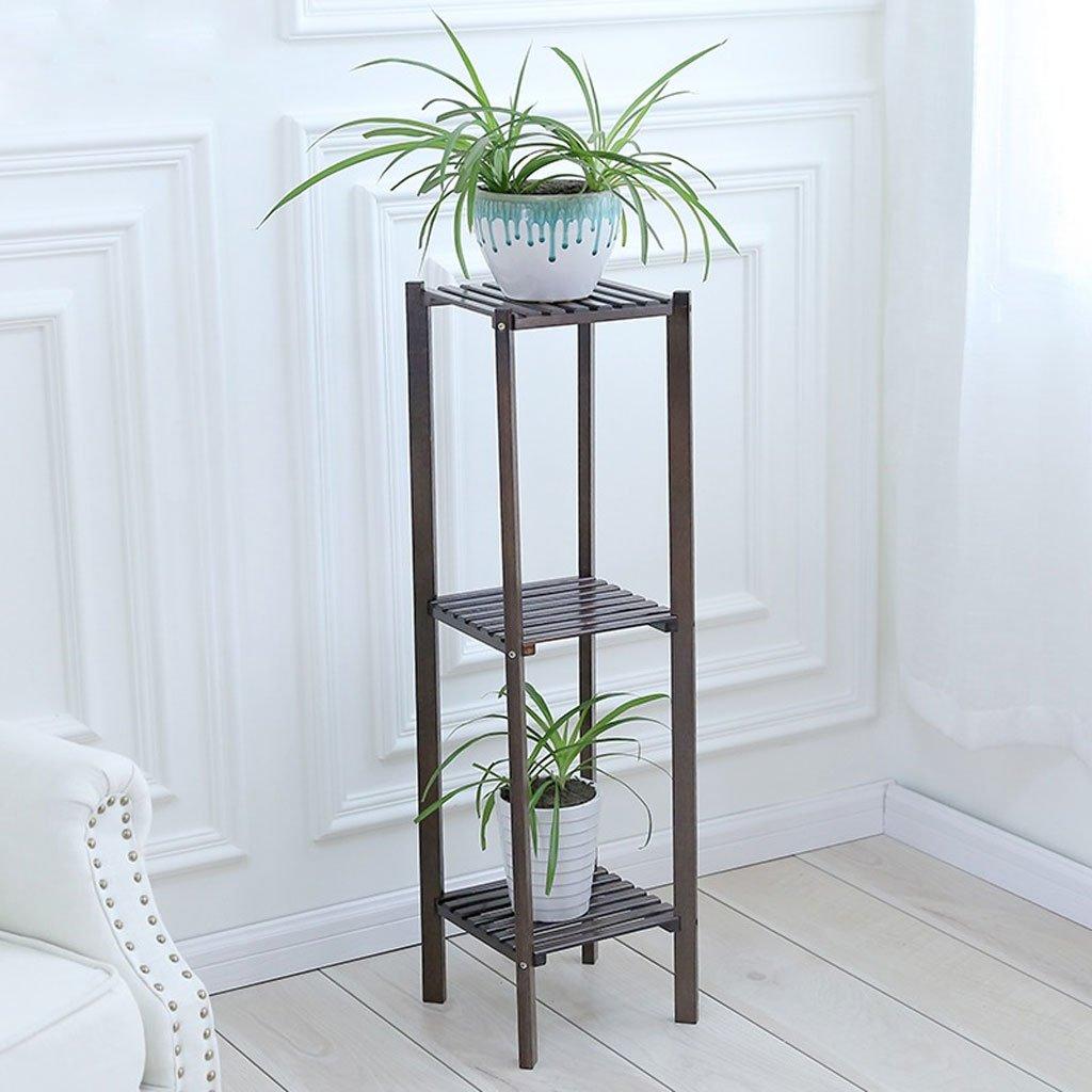 Ccf Flower Stand Balcone Living Room Interior Floor Supporto a Fiori in Multistrato Nero (Dimensioni   L27CMW27CM100CM)