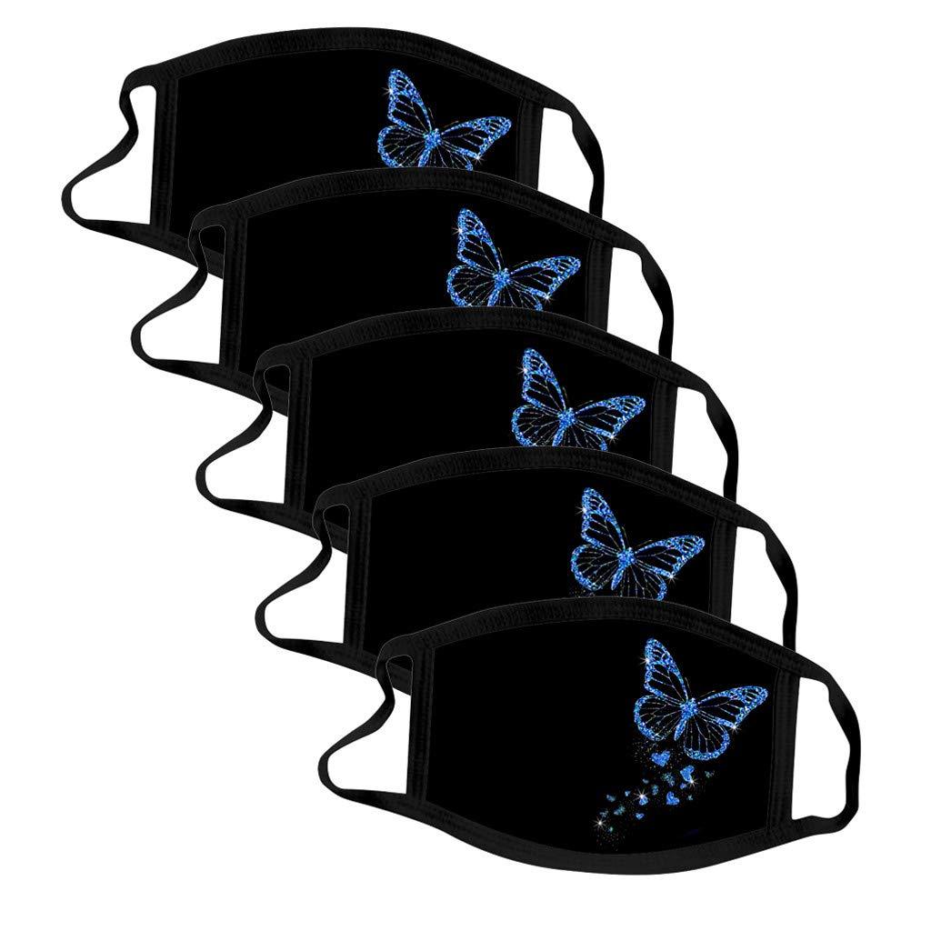 Las Orejeras Civil Del Mujer Aire Proteccion Respiratoria Y Solar Estampado de mariposas 1/5PC