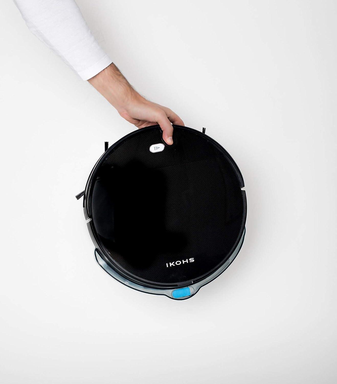 ,Syst/ème de Nettoyage Puissant IKOHS NETBOT S12 Noir avec filtre hepa Automatique Navigation intelligente Convient Pour les Poils danimaux Robot aspirateur et nettoyeur silencieux