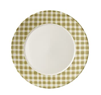 Dudson Plates 12PCE - Finest Vitrified Tableware 15.9 Gingham Wheat ...
